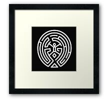 Westworld Big White Maze Logo Framed Print