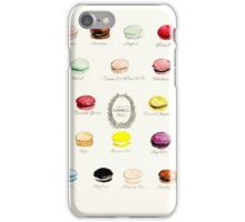 Laduree Macarons Flavor Menu iPhone Case/Skin