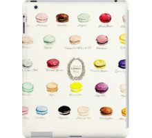 Laduree Macarons Flavor Menu iPad Case/Skin