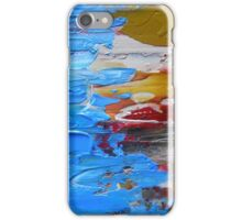 Beach Tide Acrylics On Stretched Canvas abstract impressionism iPhone Case/Skin