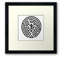 Westworld Black Maze Logo Framed Print