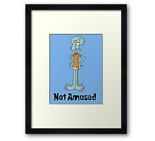 Squidward is Not Amused Framed Print