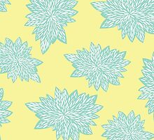 Blue and Yellow Leaves by Carools