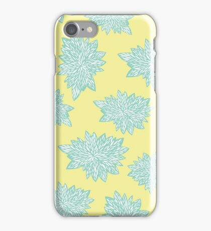 Blue and Yellow Leaves iPhone Case/Skin