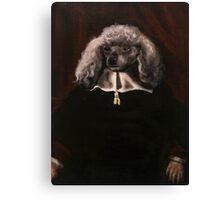 Portrait of a White-furred Dog Canvas Print