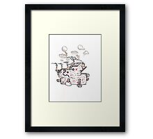 Abstract Alien Steampunk Plant Framed Print