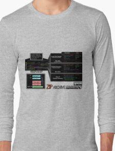 a mini ZIP (white text) Long Sleeve T-Shirt