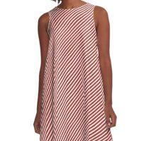 Aurora Red Stripe A-Line Dress