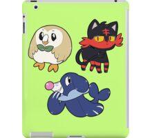 Pokemon Alola Starters Rowlet Popplio & Litten iPad Case/Skin