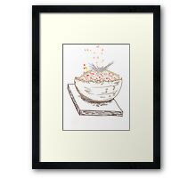 Abstract Alien Crystal Plant Framed Print