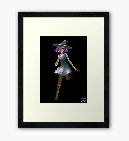 Crystal Witch Framed Print
