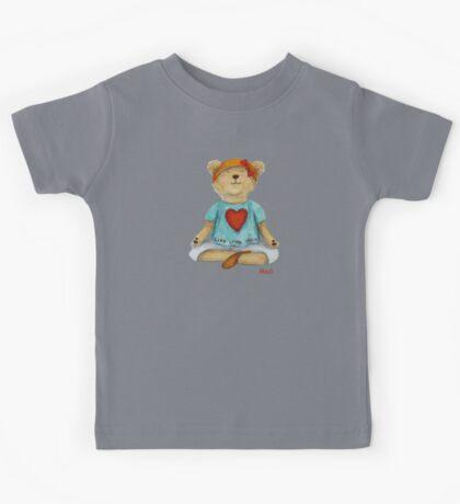 Live Love Yoga Bear Madi  Kids Tee