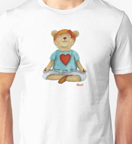 Live Love Yoga Bear Madi  Unisex T-Shirt