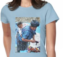 Market Vendor, with Baby Womens Fitted T-Shirt