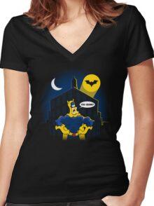 Holy Bananas! Women's Fitted V-Neck T-Shirt
