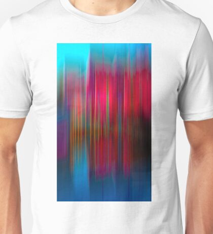 Red and Blue Reflection Unisex T-Shirt
