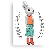 Bunny with Boots Canvas Print