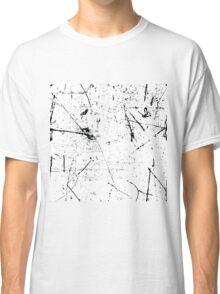 black and white punk grunge pattern Classic T-Shirt