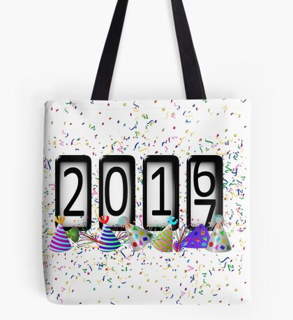 New Years Odometer Party Hats Tote Bag
