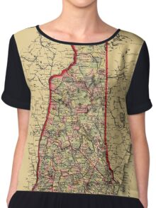 Map Of New Hampshire 1883 Chiffon Top