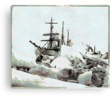 "U.S.R.C. ""Bear"" and S.S. ""Corwin"" - Roadstead, Nome, Alaska Canvas Print"