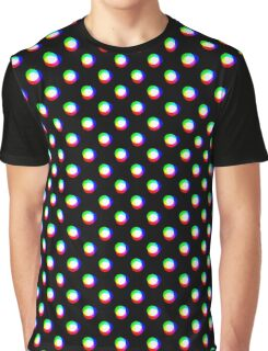 Crazy Polka Dots Black Background Graphic T-Shirt