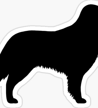 Flat Coated Retriever Silhouette(s) Sticker