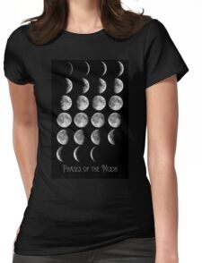 Astronomy Chart, Phases of the Moon, Lunar chart Womens Fitted T-Shirt