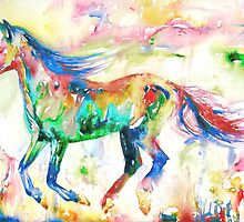 HORSE RUNNING in a PSYCHEDELIC LANDSCAPE by lautir