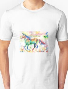 HORSE RUNNING in a PSYCHEDELIC LANDSCAPE Unisex T-Shirt