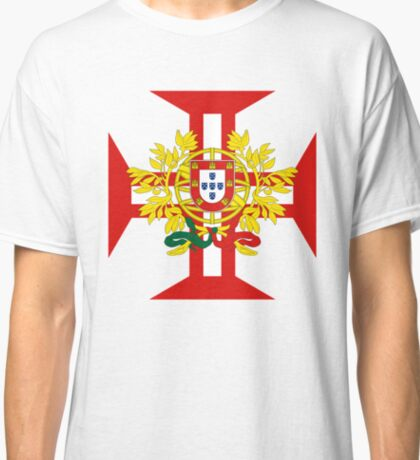Portuguese Templar Cross with Coat of Arms Classic T-Shirt