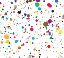 colorful paint splatter confetti Sticker