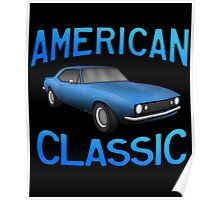 Classic American Muscle z28 Poster