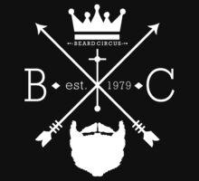 Beard Circus Logo WHT by mijumi