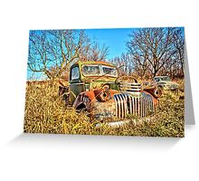 Old Steel And Chrome Greeting Card