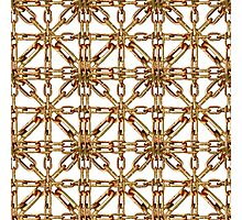 Chain Pattern Collage Photographic Print