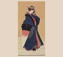 'Beauty with Umbrella in the Snow' by Katsushika Hokusai (Reproduction) T-Shirt