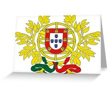 Portuguese coat of arms Greeting Card