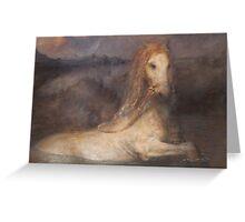 Horse bath Greeting Card