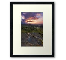 Norland moor sunset Framed Print