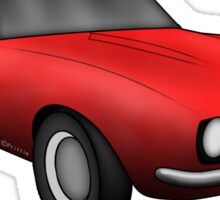 Classic American Muscle Red z28 Sticker