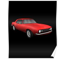 Classic American Muscle Red z28 Poster