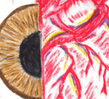 Eye/Heart Sticker