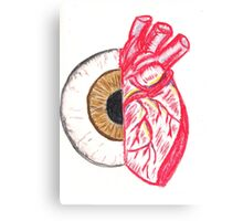 Eye/Heart Canvas Print