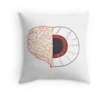 Brain/Eye Throw Pillow