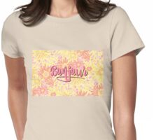 Bonjour! Womens Fitted T-Shirt