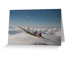 Fw 190 - P47 - Strike Back Greeting Card