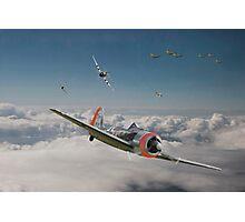 Fw 190 - P47 - Strike Back Photographic Print