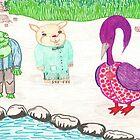 Frog, Hamster, Bird by SteveHanna