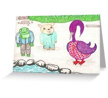 Frog, Hamster, Bird Greeting Card